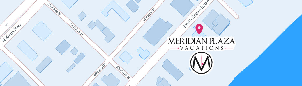 Meridian Plaza Vacations Map Image