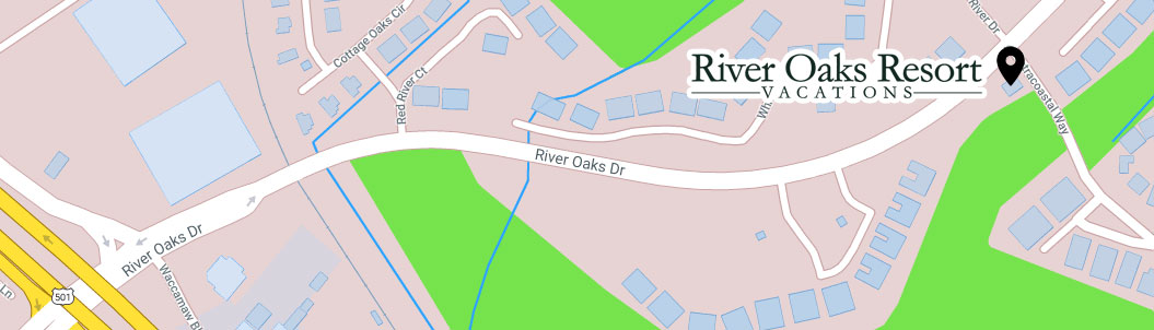 River Oaks Resort Vacations Map Image